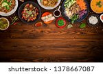 asian food background with... | Shutterstock . vector #1378667087