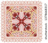 decorative colorful ornament on ... | Shutterstock .eps vector #1378668317
