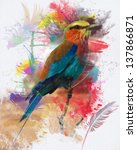Abstract Bird Colorfull Paint