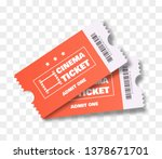 cinema tickets isolated. vector ... | Shutterstock .eps vector #1378671701