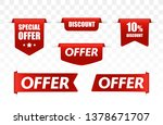 offer tag set. vector discount... | Shutterstock .eps vector #1378671707