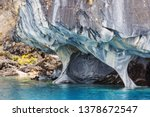 unusual marble caves on the... | Shutterstock . vector #1378672547