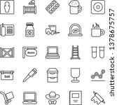 thin line icon set   male... | Shutterstock .eps vector #1378675757
