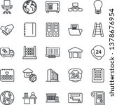thin line icon set   safe... | Shutterstock .eps vector #1378676954