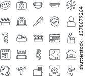 thin line icon set   dispatcher ... | Shutterstock .eps vector #1378679264