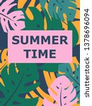 colorful summer poster with... | Shutterstock .eps vector #1378696094