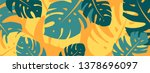 colorful summer banner with... | Shutterstock .eps vector #1378696097