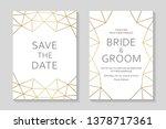 wedding invitation design or...   Shutterstock .eps vector #1378717361