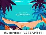 vector illustration   beach... | Shutterstock .eps vector #1378724564
