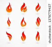 raster version. fire flames... | Shutterstock . vector #1378779437