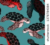 watercolor seamless pattern... | Shutterstock . vector #1378784084