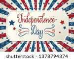 united states independence day... | Shutterstock .eps vector #1378794374