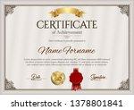 certificate of achievement.... | Shutterstock .eps vector #1378801841