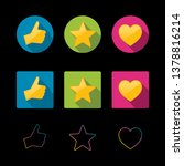 thumbs up  favorite and like... | Shutterstock .eps vector #1378816214