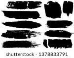 dry brush strokes. black... | Shutterstock .eps vector #1378833791