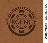 urgency retro wood emblem | Shutterstock .eps vector #1378837127