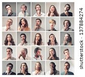 group of diverse people who... | Shutterstock . vector #137884274