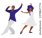 young black couple dancing | Shutterstock .eps vector #1378847774