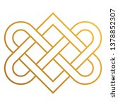 celtic knot   beautiful celtic... | Shutterstock .eps vector #1378852307