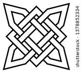 celtic knot   beautiful celtic... | Shutterstock .eps vector #1378852334