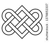 celtic knot   beautiful celtic... | Shutterstock .eps vector #1378852337