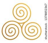 celtic triskele   beautiful... | Shutterstock .eps vector #1378852367