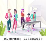 concept in flat style with... | Shutterstock .eps vector #1378860884