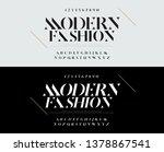 elegant alphabet letters font... | Shutterstock .eps vector #1378867541