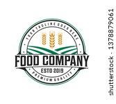 food company logo design | Shutterstock .eps vector #1378879061