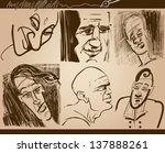 cartoon illustration of people... | Shutterstock . vector #137888261