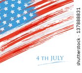 flag of the usa  united states... | Shutterstock .eps vector #137888831