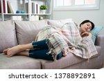 portrait of young sleeping... | Shutterstock . vector #1378892891