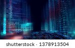 digital city scape with digit...   Shutterstock . vector #1378913504