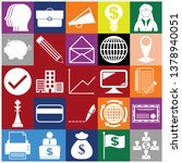 set of 25 business icons.... | Shutterstock .eps vector #1378940051