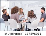 group therapy session sitting... | Shutterstock . vector #137896091