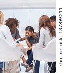 therapist encouraging a patient ... | Shutterstock . vector #137896211