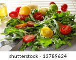 Salad Snack With Tomatos In Th...