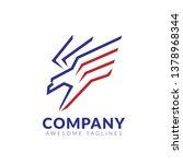 creative lines flying hawk logo ... | Shutterstock .eps vector #1378968344
