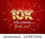10000 followers celebration... | Shutterstock .eps vector #1378972244