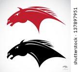 Stock vector tribal horse head tattoo vector illustration 137897951