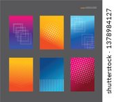 covers design. colorful... | Shutterstock .eps vector #1378984127