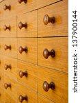 card catalog | Shutterstock . vector #137900144