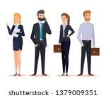 set professional businesspeople ... | Shutterstock .eps vector #1379009351