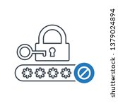 password icon with not allowed... | Shutterstock .eps vector #1379024894