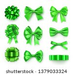 brightly green various bows... | Shutterstock .eps vector #1379033324