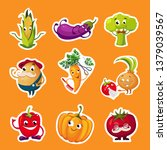 collection of fruits and... | Shutterstock .eps vector #1379039567