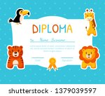 colorful diploma template for... | Shutterstock .eps vector #1379039597