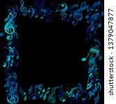 square frame of musical notes.... | Shutterstock .eps vector #1379047877