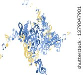 musical notes. modern... | Shutterstock .eps vector #1379047901