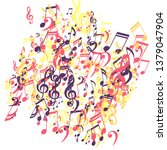 musical signs. abstract... | Shutterstock .eps vector #1379047904
